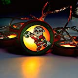 Christmas Best Decoration!!!Goldseller String Lights,Warm White Christmas Wooden String Lights Wedding Xmas Party Indoor Outdoor Decor Lamp,Enjoy a Warm Atmosphere (A)