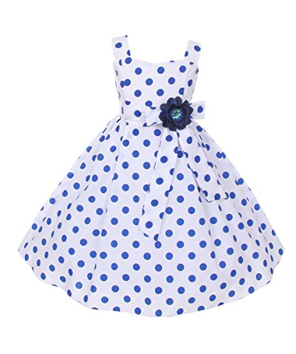 Cinderella-Couture-Big-Girls-Polka-Dotted-Rockabilly-Dress-Navy-8-1112