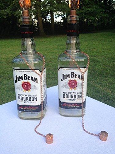 Tiki Torch - Jim Beam Bourbon - Oil Lamp - One - Outdoor Lighting - Garden Decor - Bourbon Decor - Kentucky Decor ()