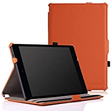 Google Nexus 9 Case - MoKo Slim-Fit Multi-angle Folio Cover Case for Google Nexus 9 8.9 inch Volantis Flounder Android 5.0 Lollipop tablet by HTC, ORANGE(With Smart Cover Auto Wake / Sleep Feature)