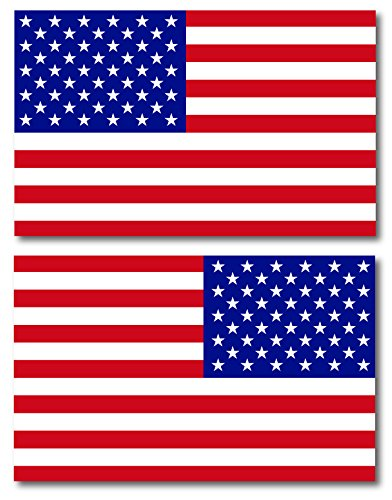 American Flag Car Magnet Decal - 5 x 8 Opposing Heavy Duty for Car Truck SUV Waterproof