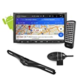 "Premium Android 7"" Double Din Bluetooth DVR Dash Cam, Dual Camera, Car Stereo Receiver, Touchscreen Tablet Style Display, Wi-Fi Web Browsing, App Download, Works W/ Waze, Google Maps, GPS (SDANDR696)"