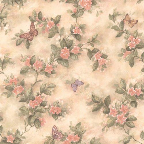 brewster-436-38573-lisa-peach-butterfly-floral-wallpaper-peach