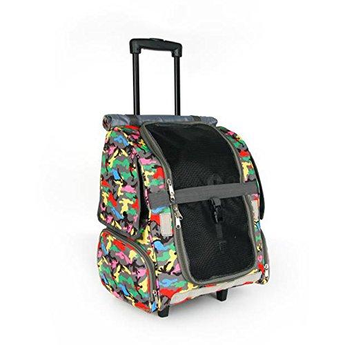 NAUY- Haustier-Trolley-Kasten-Hund aus der Trolley-Tasche Amerikanischer Trolley-Kasten Haustier heraus Rucksack-Katze und Hund Koffer-Handtasche ( Farbe : #1 )