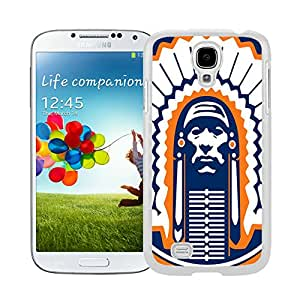 Illinois Fighting Illini 02 White Hard Plastic Samsung Galaxy S4 I9500 i337 M919 i545 r970 l720 Phone Cover Case
