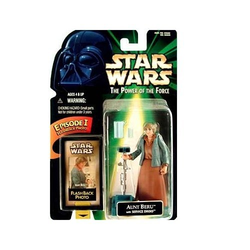 (Star Wars The Power of the Force Flashback Aunt Beru Action Figure 3.75 Inches)