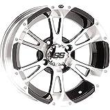 ITP SS112 Golf Cart Wheel Machined/Black 10x7 (4/4) - (3+4) [10SS44 (10SS34)]