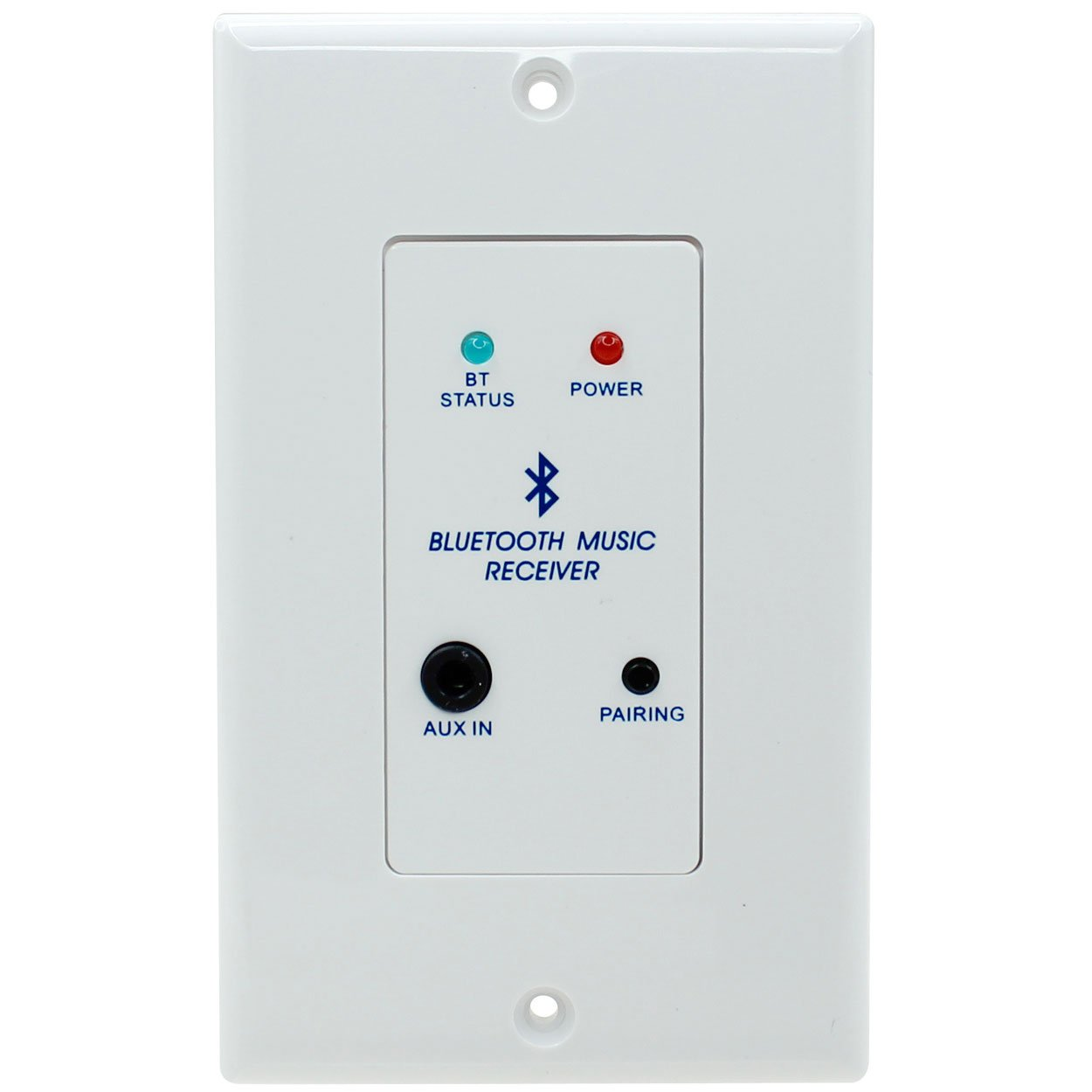 Parts Express In-Wall Stereo Audio and Bluetooth Receiver Wall Plate