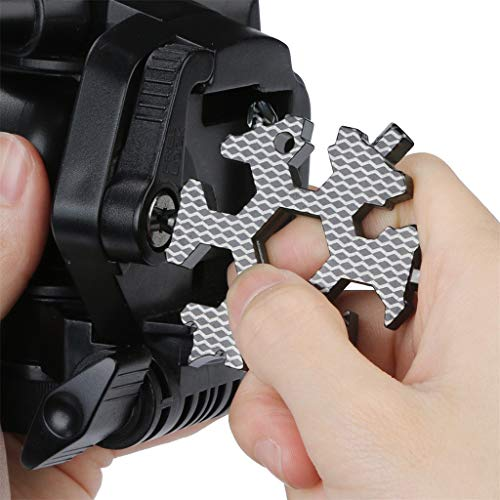Bone Shape Keychain - Lywey 19-in-1 Multi-tool Wrenches Combination Compact Outdoor Portable Snowflake Tool