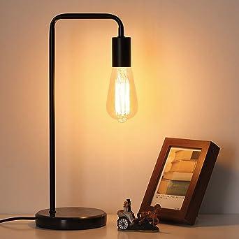 Lámpara de mesa industrial, lámpara de mesa de noche vintage ...
