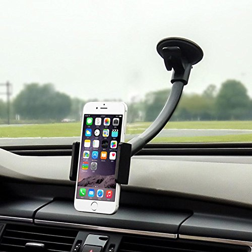 - Cell Phone Holder for Car, MTWhirldy 10.6in Long Arm, Universal Car Cradles Mounts Windshield/Dashboard for iPhone X 8 Plus 6 Plus 6S 5S Samsung Galaxy S8 S7 Nexus Stands