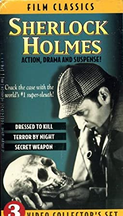 Sherlock Holmes 3 Video Collectors Set: DRESSED TO KILL, TERROR, SECRET VHS