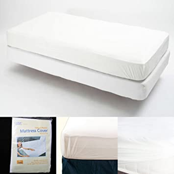 Amazon Com Twin Size Fitted Mattress Cover Vinyl Waterproof Bed Bug