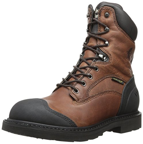 Chippewa Heren 8 Inch Zware Geoliede Waterproof Veterschoen Met Veterveters Bruin