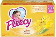Fleecy Aroma Therapy Fabric Softener Dryer Sheets, Calm, 200 sheets