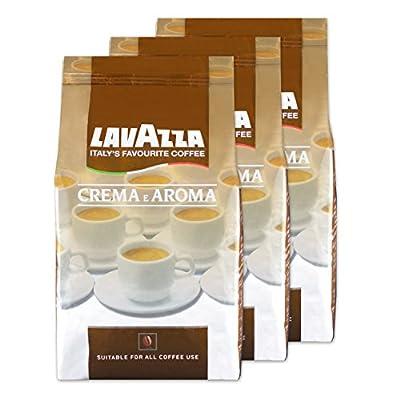 Lavazza Crema E Aroma Coffee Beans, Pack of 3, 3 x 1000g