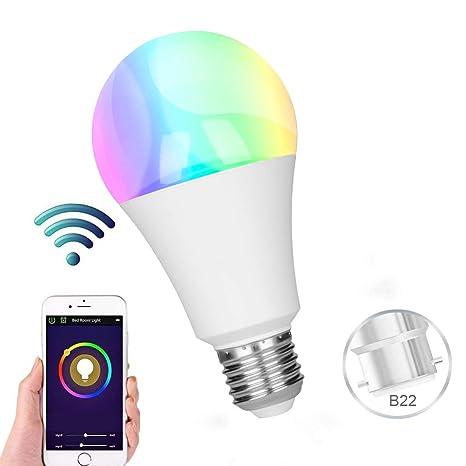Bombillas inteligentes, bombilla GREMAG WiFi Led 9 W E27 Compatible con Alexa y Google Home