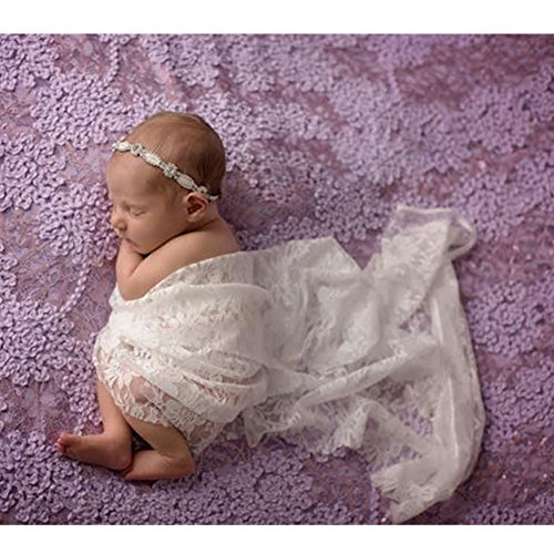 Fashion Newborn Boy Girl Baby Photography Props Wrap Yarn Cloth Stretch Lace Blanket