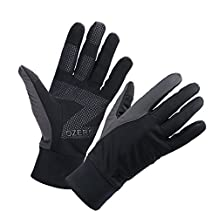 OZERO Touch Screen Gloves, Running Glove for Smart Phone Texting with Non-slip Silicone Gel - Hand Warmers - Windproof and Waterproof for Cycling, Riding, Workout - Fit for Men and Women (S,M,L,XL)