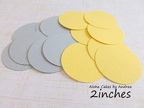 Amazon 2 Inch Circles Yellow And Gray Paper Circles