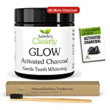 Isabella's Clearly GLOW (BULK) Teeth Whitening Activated Charcoal + Soft Bamboo Toothbrush. #1 Product in Canada. 100% Pure Food Grade Non-GMO, Better than Strips, Bleach, Toothpaste. RISK FREE. (80g)