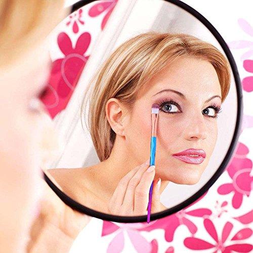 Eye Shadow Brush Set Unicorn 10Pcs Eye Makeup Brushes for Shading or Blending of Eyeshadow Cream Powder Eyebrow Highlighter Concealer Cosmetics Brush Tool