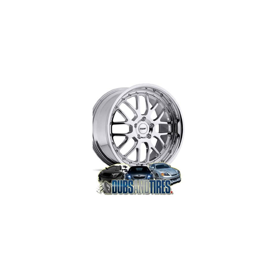 17 Inch 17x8 TSW wheels VALENCIA Chrome wheels rims