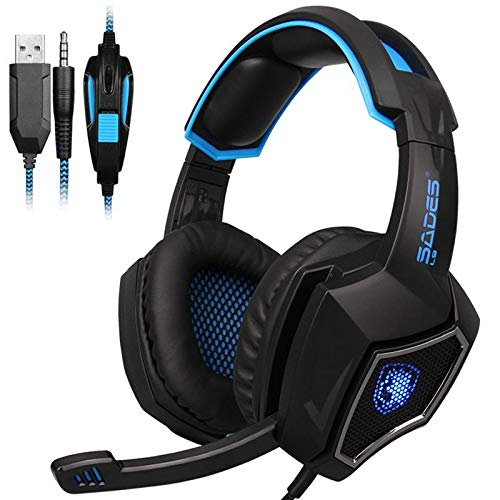 SADES L9 PS4 Gaming Headset Computer Headphones Stereo with mic 3.5mm Jack for PC Laptop Mac Xbox one Mobile Phone