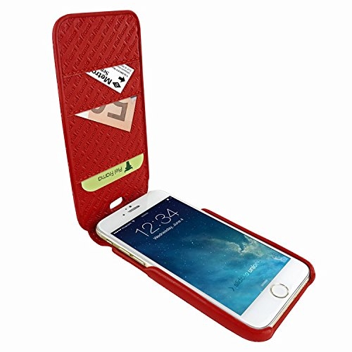 Piel Frama 760 Red Crocodile iMagnumCards Leather Case for Apple iPhone 7 / 8 by Piel Frama