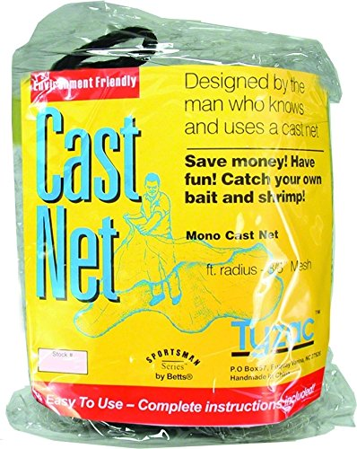 - Betts Tyzac Series Cast Net, 6-Feet x 3/8-Inch