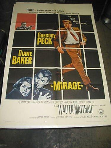 Mirage Sheet (MIRAGE /ORIG. U.S. ONE SHEET MOVIE POSTER (GREGORY)