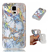 NEXCURIO Samsung Galaxy S5 Case Marble Soft Silicone Shockproof Scratch Resistant Protective Cover for Samsung Galaxy S5 - NEYHU10060 Gold