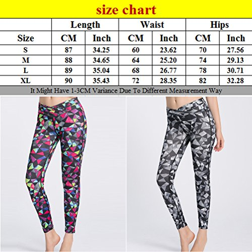 Zhhlinyuan Womens Comfy Sport Yoga Pant Fashion printing Design Tight Pant Rose Red