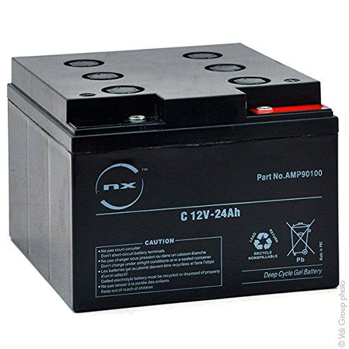 NX - Baterí a Plomo sellada Gel NX 24-12 Cyclic 12V 24Ah M5-F
