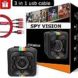 Mini Spy Camera - Nanny Cam - Hidden Camera - Spy Camera - Mini Security Camera - Hidden Spy Camera - Mini Hidden Camera - 1080P/720P - Pocket Camera - Motion Detection - Sport Camera - Night Vision