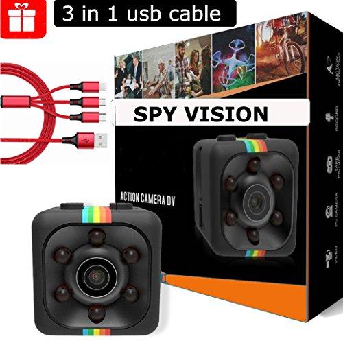 Mini Spy Camera – Nanny Cam – Hidden Camera – Spy Camera – Mini Security Camera – Hidden Spy Camera – Mini Hidden Camera – 1080P/720P – Pocket Camera – Motion Detection – Sport Camera – Night Vision