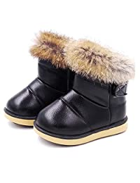WYSBAOSHU Warm Girl's Winter Snow Boots Outdoor Fur Shoes