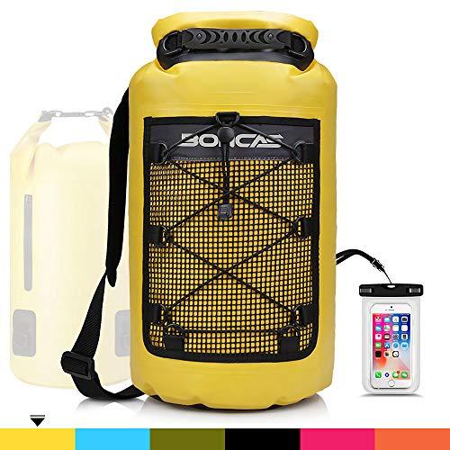 Boncas Waterproof Dry Bag, 10L 20L 30L Waterproof Backpack with Phone Pounch, Waterproof Roll Top Bag Dry Sack Perfect…