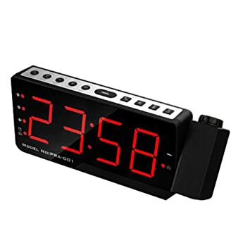 Hellycuche Despertador Proyector con alarmas duales LED ...