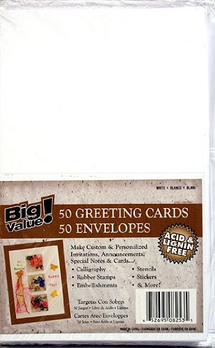 Blank Greeting Cards Envelopes Package