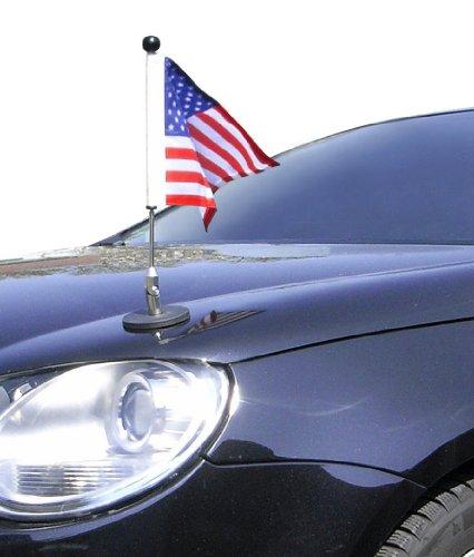 Cheap Magnetic Car Flag Pole Diplomat-1 USA