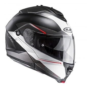 HJC 115971S - Casco de moto, negro y blanco, talla S