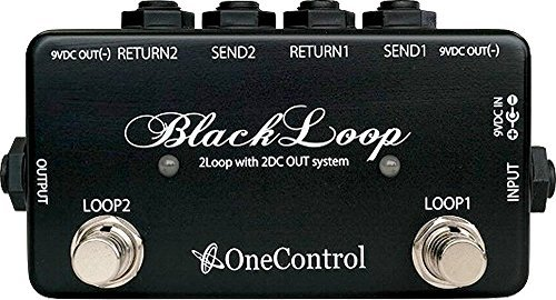 Pedal Guitar Switcher Amp (One Control Black Loop 2-loop Switcher Pedal)