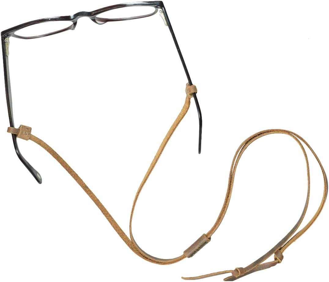 Everyday Accessories Adjustable Eyeglasses Leather Strap Hide /& Drink Glasses Cord Handmade Includes 101 Year Warranty :: Bourbon Brown