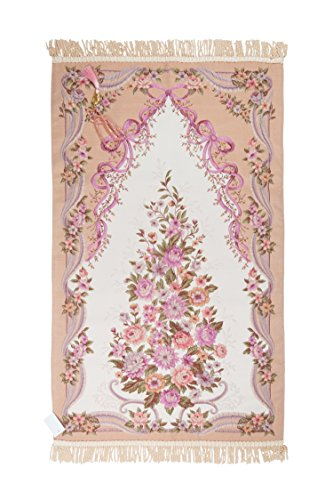 Royal Sejadah - Sajda - Janamaz - Prayer Rug - Elegantly Designed Prayer Mat - Tasbih as a Gift - Beauty Collection/Begum/Salmon for Eid al-Adha - Prayer Carpet