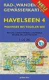 Rad-, Wander- und Gewässerkarte Havelseen 4: Wannsee bis Tegeler See: Mit Spandau, Charlottenburg, Grunewald, Zehlendorf, Kleinmachnow. Maßstab ... Berlin/Brandenburg / Maßstab 1:35.000)