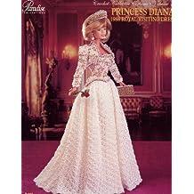 Princess Diana 1988 Royal Visiting Dress (Crochet Collector Costume, 55)