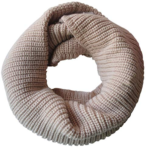 - Fheaven (TM) Women's Scarf Matching Winter Warm Cable Knit Thicken Fur Infinity Scarf (Beige)