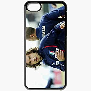 Personalized iPhone 5C Cell phone Case/Cover Skin Andrea Pirlo Italy Footballer Training Legend Football Black