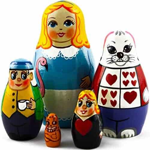 Declaration of Love I Love You Matryoshka Russian Nesting Dolls Babushka 4 Pcs